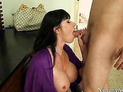Danny Wylde uses his sturdy meat stick to bring Playful temptress Eva Karera to the edge of nirvana