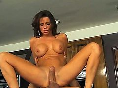 Big boobed and big assed milf Veronica Avluv loves to be fucked! Today she is staying in high heeled shoes only before starting to give cool rodeo on guys fat rod.