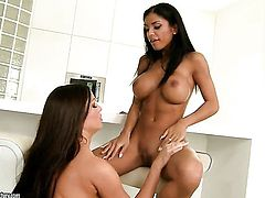 Kyra Black gets her lesbian vagina tongue fucked by Angelica Heart the way she loves it