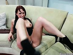 Johnny Castle makes his sturdy love torpedo disappear in nasty Nicki Hunters love hole
