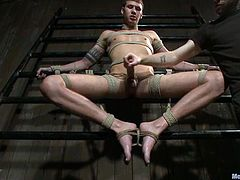 This weird dude named Jay Cloud is going to feel so damn painful! He gets trapped in the device bondage and then tortured so damn hard!