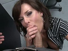 Handsome pal Danny Mountain spends unforgettable time with luxurious mommy Veronica Avluv. She is giving blowjob, tugjob and titjob to him before vaginal fucking.