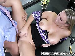 Abbey Brooks with phat bottom makes her sex dreams a reality with her hot fuck buddy Mikey Butders