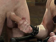 Get a load of this gay bondage video where these guys have fun being tortured and fucked by their master.