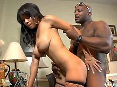 Real Blak Housewife Jade Aspen Big Tits Blowjob black dick hardcore Interracial ride garter brunette