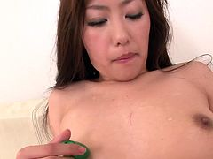 Mind taking Japanese babe strokes her cuddly body with pleasure before she takes a mini vibrator to tickle her beaver with it in steamy solo sex video by Jav HD.