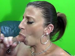 Sara Jay's about to make you bust a nut with this hardcore video where this smoking hot blonde milf ends up with her tits covered by cum after sucking and fucking a big cock.