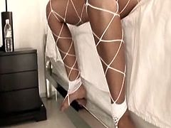 Awesome busty and booty Indian brunette is a futuristic lover. If you wanna jizz at once this Indian Sex Lounge XXX clip is surely for you. Amazing gal in fishnet stockings provides a fat long dick with a solid blowjob and gets her wet pussy drilled from behind in return.