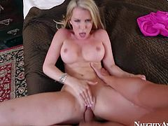 Courtney Cummz is a dangerously sexy wife with blonde hair and perfect boobs. MILF spreads her long legs wide and gets her pink hole drilled by her lucky husband from your point of view.