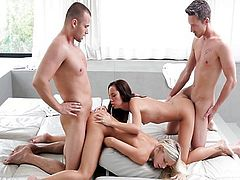 Nubile Films - Gina licking jizz off Didos ass