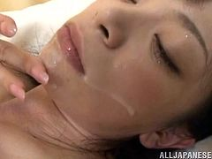 Aina Tsuji the sick Japanese girl gets seduced by male nurse. He fingers her pussy and then she sucks his dick. After that she undresses and gets nailed right in her hospital ward.