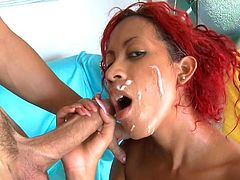 Afra Red is horny and in need to ravage her cunt during one nasty hardcore fuck