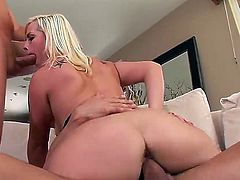 Tara Lynn Foxx takes Mark Woods cum loaded fuck stick in her ass