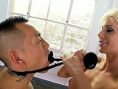 Puma Swede gets her muff pie ploughed ferociously by mans hard rod