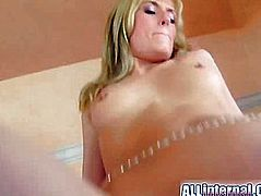 She takes on two guys who drill her butt hard after which she gets a big load of cum deep inside her