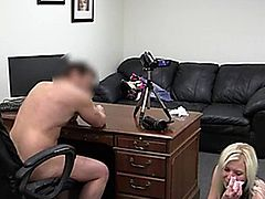 Hot uk slut banged on audition