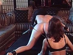 Watch these nasty lesbian bitches playing some hot bdsm games in this hot video. They're always ready to misbehave flaunting their sexy tits and amazing booties.