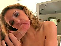 Roxanne Hall cant resist the temptation to take heavy money shot on her face