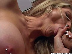 Hot Emma enjoys in sex with Will on couch