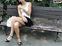 Brunette has dick-hungry ass and takes care about guys erection