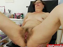 OldPussyExam.com members area features gigabytes of similar gyno exam episodes where aged women are being gyno checked by kinky pussy doctor! This update is about brunette milf Slavena.
