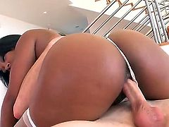 Megan Vaughn is that bitch that everybody would like to fuck. She is the hottest bitch in the world and Romeo Price must be feeling lucky while tapping her ass from behind for sure.