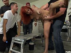 A horny redhead fucking whore gets tied up and fucked in this kinky bondage scene right here, hit play and check it out!