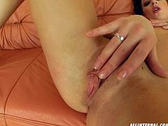 Dude, be sure to jerk off and jizz at once along with Perfect Gonzo sex clip. Zealous nympho with sweet natural tits is fond of masturbating. Ardent chick likes tickling wet pussy on the couch. Booty whorish wanker is surely worth your attention, cuz dozen of delight is waiting for you.
