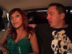 Tasty looking red-haired slut Audrianna Angel gets fucked in hotel room