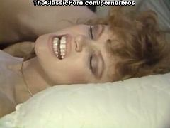 Enjoy this vintage hardcore scene where a hot brunette gets her hairy clam drilled balls deep into a superb orgasm.