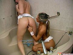 Enjoy headlights of these two wet teens which play with each other in the shower. They are so cute and adorable. Hot kissing, petting and masturbation you are going to enjoy right now.