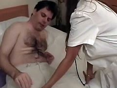 Skanky Indian nurse wearing white nurse uniform is looking sexy and dirty. She seduces her patient for hardcore threesome sex action. So check this out and have hot jerk off.