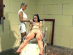 Hana and Mandy Bright are very horny lesbian. One of them is the dirty patient who came for a regular body check and the other one is a nurse who loves to dominate over patients.