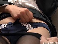 Amazingly hot Maki Kouta kisses with the coworker in the archive. Then she sucks his dick and gets her pussy licked. After that she gets fucked from behind.