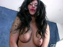 Watch this hot solo with this kinky busty brunette babe using strap-on and showing her bdsm talent action.Enjoy her whipping and rubbing her horny pussy.
