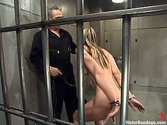 Well, Delilah is not much of a lady. She's actually a fucking slut and gets treated that way. The executor pays her a visit in the prison cell and takes her out to give this bitch some water. He kneels her down, takes off her nose ring and grabs her head to insert it in that water. Did she have enough?