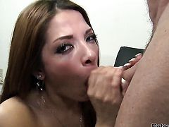 Evilyn Fierce gets her throat fucked good and hard by Peter North