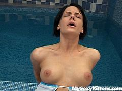 Provocative girl Inge seduced the guy swimming in the pool. He entered her clam from behind pounding her mercilessly. So, Inge screams wild with joy. Later she tops the rod jumping on a cock like crazy. Exciting My Sexy Kittens porn video presented specially for you.