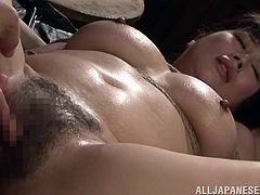 This kinky Japanese girl is in military. She gets captured by enemy soldiers. So, she gets tied up and then fucked deep in her hairy pussy.