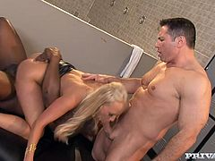 Carla Cox enjoys ardent DP in a hot interracial threesome