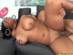 Well, dude, just have a look at this hot and appetizing a bit plump black chick presented in Reality Kings xxx clip. Wondrous nympho thirsts for delight. So palatable cutie with nice huge ass and big boobs is mad about doggy fuck. The deeper the cock penetrates her vagina the louder her loud moans of delight.