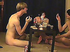 Trace and William get together with their fresh buddy Austin for the second installment of game night (gay fuck)