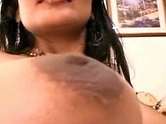 Busty Indian girlfriend gives titsjob and sucking job