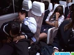 Check out super sexy japanese teenie having fun with her teacher on the bus. While the others are sleeping she starts deepthroating his schlong!