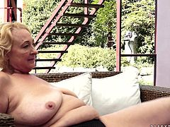 Adorable brunette girl Daniella Rose is getting naughty with lewd blonde granny named Sila on the poolside. They lick each other's pussies and moan sweetly with pleasure.