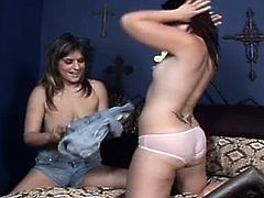 Fame Digital sex clip provides you with two voracious brunette lesbos. These gals are ready to gain some delight. Wondrous chicks get rid of short jeans skirt and tight white tops. Alike looking hotties with natural tits and rounded pale asses thirst for orgasm. That means it's high time to tickle, lick and spoon each other's wet juicy pussies.