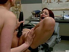 This female domination video has Maitresse Madeline playing with Phoenix Askani, tying her up, fucking her pussy with her strapon and more in the hospital.