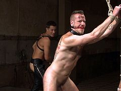 A lot of spanking and some other weird shit in this kinky bondage scene packed with male on male action, check it out right here!