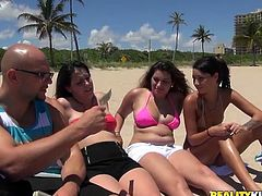 Hey, folks, I know you are into chubby girl with sexy curvy bodies. Check this hot Reality Kings video of sizzling girlies bathing on a sun wearing outright bikinis. They look fucking hot.