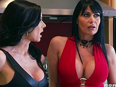 Here three sexy milfs are playing dirty with a big dick guy. Their round and sensual boobs has left him no choice but to lick them. It has made his dick as hard as rock and they don't waste time, wrapping their cum asking lips around that hot rod just before riding it hard. Watch!